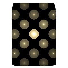 Gray Balls On Black Background Flap Covers (l)