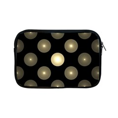 Gray Balls On Black Background Apple Ipad Mini Zipper Cases