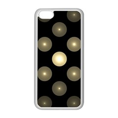 Gray Balls On Black Background Apple Iphone 5c Seamless Case (white)