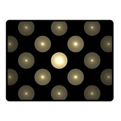 Gray Balls On Black Background Double Sided Fleece Blanket (small)