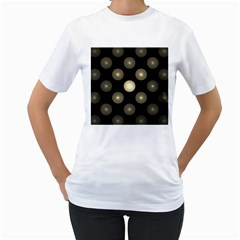 Gray Balls On Black Background Women s T-Shirt (White)