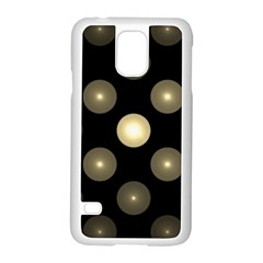 Gray Balls On Black Background Samsung Galaxy S5 Case (White)