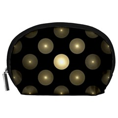 Gray Balls On Black Background Accessory Pouches (large)