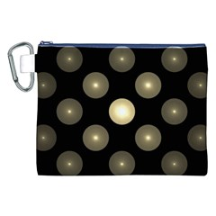 Gray Balls On Black Background Canvas Cosmetic Bag (xxl)