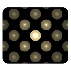Gray Balls On Black Background Double Sided Flano Blanket (Small)