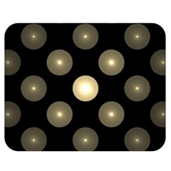 Gray Balls On Black Background Double Sided Flano Blanket (Medium)