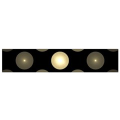 Gray Balls On Black Background Flano Scarf (Small)