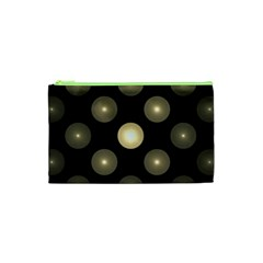 Gray Balls On Black Background Cosmetic Bag (XS)