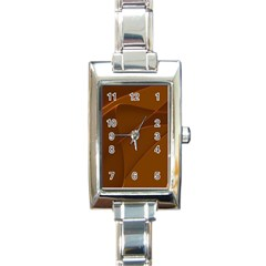 Brown Background Waves Abstract Brown Ribbon Swirling Shapes Rectangle Italian Charm Watch