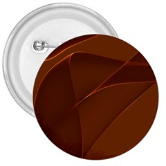 Brown Background Waves Abstract Brown Ribbon Swirling Shapes 3  Buttons