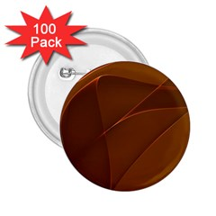 Brown Background Waves Abstract Brown Ribbon Swirling Shapes 2 25  Buttons (100 Pack)