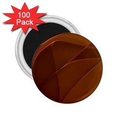 Brown Background Waves Abstract Brown Ribbon Swirling Shapes 2.25  Magnets (100 pack)