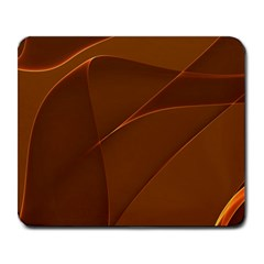Brown Background Waves Abstract Brown Ribbon Swirling Shapes Large Mousepads