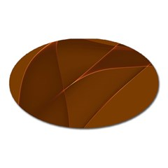Brown Background Waves Abstract Brown Ribbon Swirling Shapes Oval Magnet