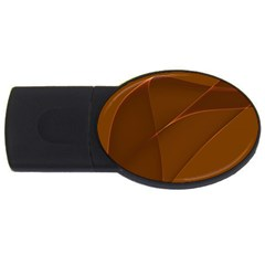 Brown Background Waves Abstract Brown Ribbon Swirling Shapes USB Flash Drive Oval (1 GB)