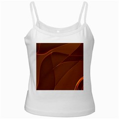 Brown Background Waves Abstract Brown Ribbon Swirling Shapes Ladies Camisoles