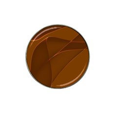 Brown Background Waves Abstract Brown Ribbon Swirling Shapes Hat Clip Ball Marker (4 pack)