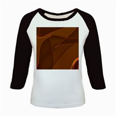 Brown Background Waves Abstract Brown Ribbon Swirling Shapes Kids Baseball Jerseys