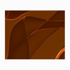 Brown Background Waves Abstract Brown Ribbon Swirling Shapes Small Glasses Cloth