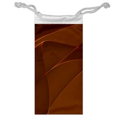 Brown Background Waves Abstract Brown Ribbon Swirling Shapes Jewelry Bag