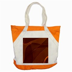 Brown Background Waves Abstract Brown Ribbon Swirling Shapes Accent Tote Bag
