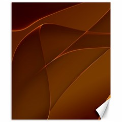 Brown Background Waves Abstract Brown Ribbon Swirling Shapes Canvas 8  X 10