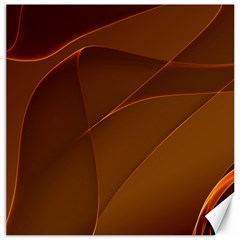 Brown Background Waves Abstract Brown Ribbon Swirling Shapes Canvas 20  x 20