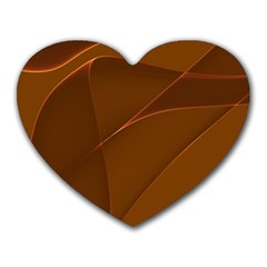 Brown Background Waves Abstract Brown Ribbon Swirling Shapes Heart Mousepads