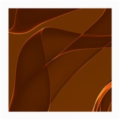 Brown Background Waves Abstract Brown Ribbon Swirling Shapes Medium Glasses Cloth
