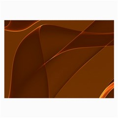 Brown Background Waves Abstract Brown Ribbon Swirling Shapes Large Glasses Cloth