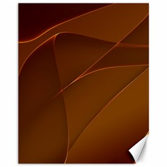 Brown Background Waves Abstract Brown Ribbon Swirling Shapes Canvas 11  x 14