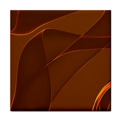 Brown Background Waves Abstract Brown Ribbon Swirling Shapes Face Towel
