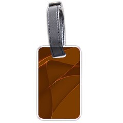 Brown Background Waves Abstract Brown Ribbon Swirling Shapes Luggage Tags (Two Sides)