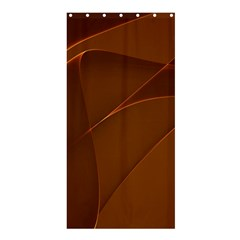 Brown Background Waves Abstract Brown Ribbon Swirling Shapes Shower Curtain 36  x 72  (Stall)