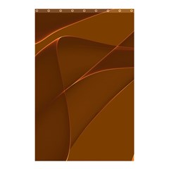 Brown Background Waves Abstract Brown Ribbon Swirling Shapes Shower Curtain 48  X 72  (small)