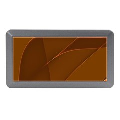 Brown Background Waves Abstract Brown Ribbon Swirling Shapes Memory Card Reader (mini)