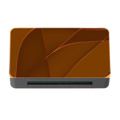 Brown Background Waves Abstract Brown Ribbon Swirling Shapes Memory Card Reader with CF
