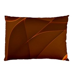 Brown Background Waves Abstract Brown Ribbon Swirling Shapes Pillow Case (Two Sides)