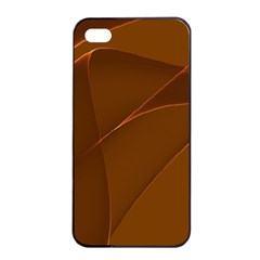 Brown Background Waves Abstract Brown Ribbon Swirling Shapes Apple iPhone 4/4s Seamless Case (Black)