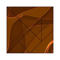 Brown Background Waves Abstract Brown Ribbon Swirling Shapes Acrylic Tangram Puzzle (6  x 6 )