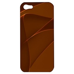 Brown Background Waves Abstract Brown Ribbon Swirling Shapes Apple Iphone 5 Hardshell Case