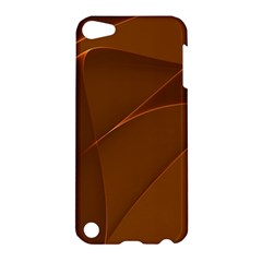 Brown Background Waves Abstract Brown Ribbon Swirling Shapes Apple Ipod Touch 5 Hardshell Case