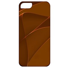 Brown Background Waves Abstract Brown Ribbon Swirling Shapes Apple iPhone 5 Classic Hardshell Case