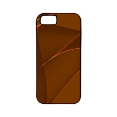 Brown Background Waves Abstract Brown Ribbon Swirling Shapes Apple Iphone 5 Classic Hardshell Case (pc+silicone)