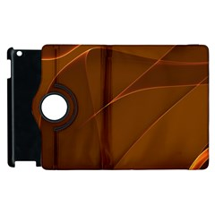 Brown Background Waves Abstract Brown Ribbon Swirling Shapes Apple Ipad 2 Flip 360 Case