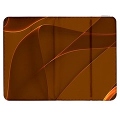 Brown Background Waves Abstract Brown Ribbon Swirling Shapes Samsung Galaxy Tab 7  P1000 Flip Case