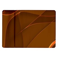 Brown Background Waves Abstract Brown Ribbon Swirling Shapes Samsung Galaxy Tab 10.1  P7500 Flip Case