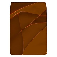 Brown Background Waves Abstract Brown Ribbon Swirling Shapes Flap Covers (l)