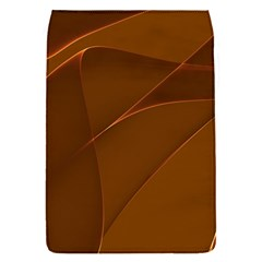 Brown Background Waves Abstract Brown Ribbon Swirling Shapes Flap Covers (S)