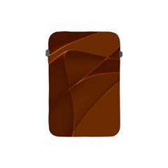 Brown Background Waves Abstract Brown Ribbon Swirling Shapes Apple Ipad Mini Protective Soft Cases